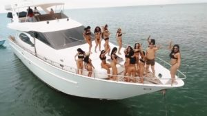 Parties on private yachts